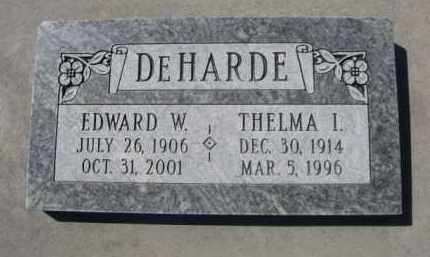 DE HARDE, EDWARD W. - Scotts Bluff County, Nebraska | EDWARD W. DE HARDE - Nebraska Gravestone Photos