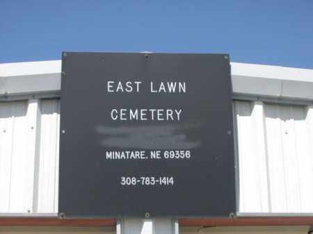 *EAST LAWN CEMETERY, SIGN FOR - Scotts Bluff County, Nebraska   SIGN FOR *EAST LAWN CEMETERY - Nebraska Gravestone Photos