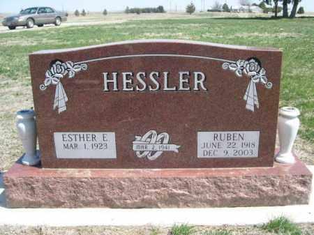 HESSLER, ESTHER E. - Scotts Bluff County, Nebraska | ESTHER E. HESSLER - Nebraska Gravestone Photos