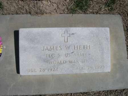 HETH, JAMES W. - Scotts Bluff County, Nebraska | JAMES W. HETH - Nebraska Gravestone Photos
