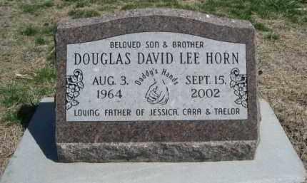 HORN, DOUGLAS DAVID LEE - Scotts Bluff County, Nebraska | DOUGLAS DAVID LEE HORN - Nebraska Gravestone Photos