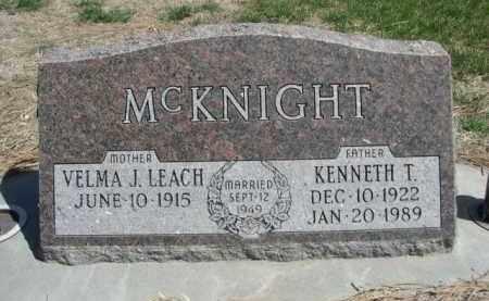 LEACH MCKNIGHT, VELMA J. - Scotts Bluff County, Nebraska | VELMA J. LEACH MCKNIGHT - Nebraska Gravestone Photos