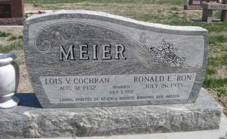 "MEIER, RONALD E. ""RON"" - Scotts Bluff County, Nebraska | RONALD E. ""RON"" MEIER - Nebraska Gravestone Photos"