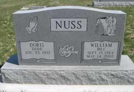 "NUSS, DORIS ""DODE"" - Scotts Bluff County, Nebraska | DORIS ""DODE"" NUSS - Nebraska Gravestone Photos"