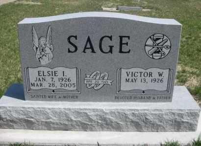 SAGE, VICTOR W. - Scotts Bluff County, Nebraska | VICTOR W. SAGE - Nebraska Gravestone Photos