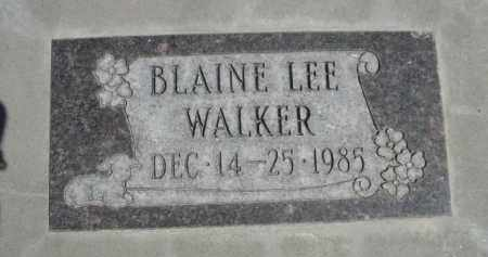 WALKER, BLAINE LEE - Scotts Bluff County, Nebraska | BLAINE LEE WALKER - Nebraska Gravestone Photos
