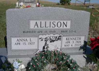 ALLISON, ANNA L. - Sheridan County, Nebraska | ANNA L. ALLISON - Nebraska Gravestone Photos