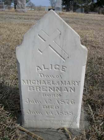 BRENNAN, ALICE - Sheridan County, Nebraska | ALICE BRENNAN - Nebraska Gravestone Photos