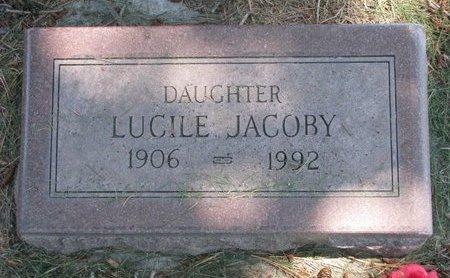 JACOBY, LUCILE - Sheridan County, Nebraska | LUCILE JACOBY - Nebraska Gravestone Photos