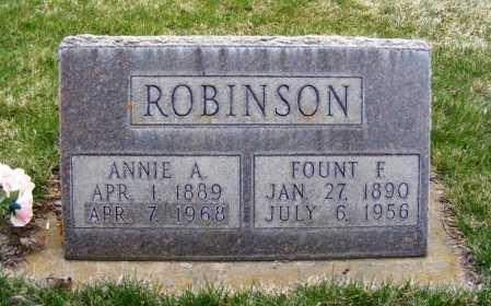 ROBINSON, ANNIE A. - Sheridan County, Nebraska   ANNIE A. ROBINSON - Nebraska Gravestone Photos