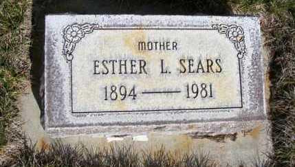 SEARS, ESTHER L. - Sheridan County, Nebraska | ESTHER L. SEARS - Nebraska Gravestone Photos