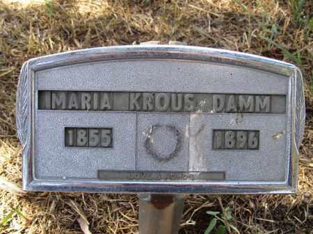 KROUS DAMM, MARIA - Sherman County, Nebraska   MARIA KROUS DAMM - Nebraska Gravestone Photos