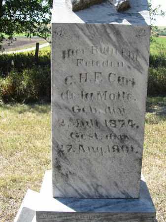 DE LA MOTTE, C.H.F. CARL - Sherman County, Nebraska | C.H.F. CARL DE LA MOTTE - Nebraska Gravestone Photos