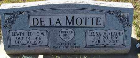 LADE DE LA MOTTE, LEONA M. - Sherman County, Nebraska | LEONA M. LADE DE LA MOTTE - Nebraska Gravestone Photos