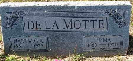 DE LA MOTTE, EMMA - Sherman County, Nebraska   EMMA DE LA MOTTE - Nebraska Gravestone Photos