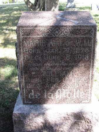 DE LA MOTTE, MARIE - Sherman County, Nebraska | MARIE DE LA MOTTE - Nebraska Gravestone Photos