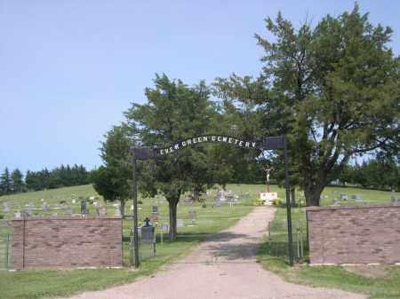*EVERGREEN CEMETERY, ENTRANCE TO - Sherman County, Nebraska   ENTRANCE TO *EVERGREEN CEMETERY - Nebraska Gravestone Photos