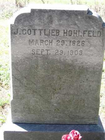 HOHLFELD, J. COTTLIEB - Sherman County, Nebraska | J. COTTLIEB HOHLFELD - Nebraska Gravestone Photos