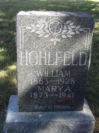 HOHLFELD, MARY A. - Sherman County, Nebraska | MARY A. HOHLFELD - Nebraska Gravestone Photos