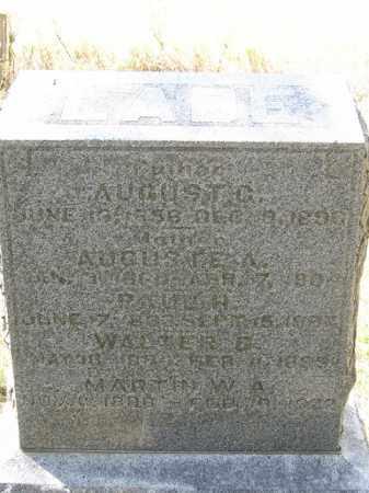 LADE, AUGUSTE A. - Sherman County, Nebraska | AUGUSTE A. LADE - Nebraska Gravestone Photos