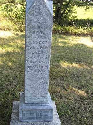 LADE, ANNA - Sherman County, Nebraska | ANNA LADE - Nebraska Gravestone Photos