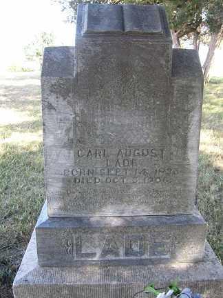 LADE, CARL AUGUST - Sherman County, Nebraska | CARL AUGUST LADE - Nebraska Gravestone Photos