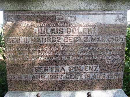 POLENZ, JULIUS - Sherman County, Nebraska   JULIUS POLENZ - Nebraska Gravestone Photos