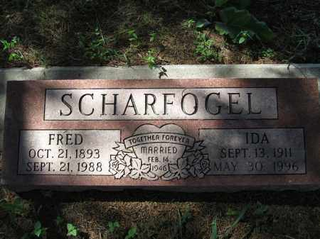 SCHARFOGEL, FRED - Sherman County, Nebraska | FRED SCHARFOGEL - Nebraska Gravestone Photos
