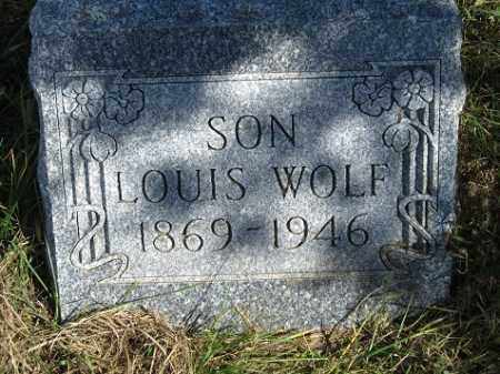 WOLF, LOUIS - Sherman County, Nebraska | LOUIS WOLF - Nebraska Gravestone Photos