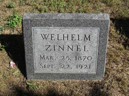 ZINNEL, WELHELM - Sherman County, Nebraska   WELHELM ZINNEL - Nebraska Gravestone Photos