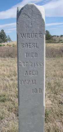 BOESL, WILLIE E. - Sioux County, Nebraska | WILLIE E. BOESL - Nebraska Gravestone Photos