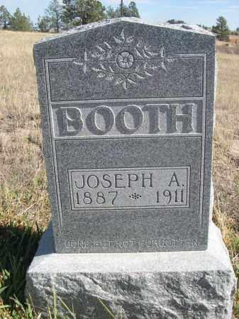 BOOTH, JOSEPH A. - Sioux County, Nebraska | JOSEPH A. BOOTH - Nebraska Gravestone Photos
