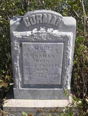 CORMAN, SAMUEL G. - Sioux County, Nebraska | SAMUEL G. CORMAN - Nebraska Gravestone Photos