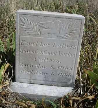 CULLERS, EVERT LEE - Sioux County, Nebraska | EVERT LEE CULLERS - Nebraska Gravestone Photos