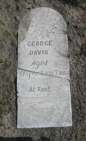 DAVIS, GEORGE - Sioux County, Nebraska   GEORGE DAVIS - Nebraska Gravestone Photos