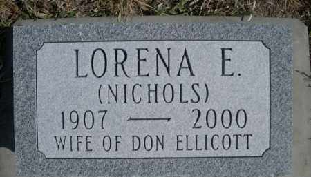 ELLICOTT, LORENA E. - Sioux County, Nebraska | LORENA E. ELLICOTT - Nebraska Gravestone Photos