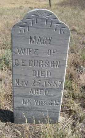 GURSON, MARY - Sioux County, Nebraska   MARY GURSON - Nebraska Gravestone Photos
