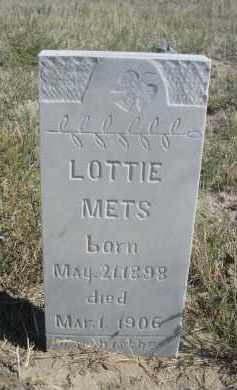 METS, LOTTIE - Sioux County, Nebraska | LOTTIE METS - Nebraska Gravestone Photos