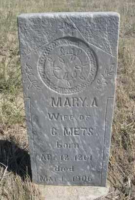 METS, MARY A. - Sioux County, Nebraska | MARY A. METS - Nebraska Gravestone Photos