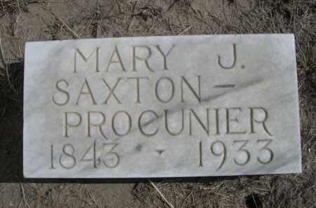 PROCUNIER, MARY J. - Sioux County, Nebraska | MARY J. PROCUNIER - Nebraska Gravestone Photos