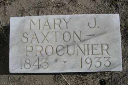 SAXTON PROCUNIER, MARY J. - Sioux County, Nebraska | MARY J. SAXTON PROCUNIER - Nebraska Gravestone Photos