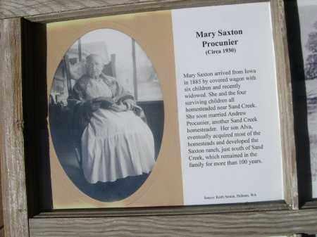 PROCUNIER, MARY - Sioux County, Nebraska | MARY PROCUNIER - Nebraska Gravestone Photos