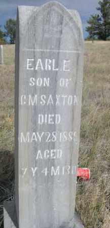 SAXTON, EARL. E. - Sioux County, Nebraska | EARL. E. SAXTON - Nebraska Gravestone Photos