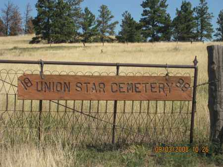 *UNION STAR CEMETERY, SIGN - Sioux County, Nebraska | SIGN *UNION STAR CEMETERY - Nebraska Gravestone Photos