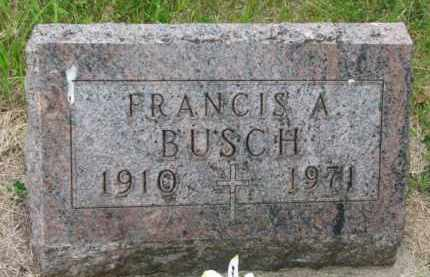 BUSCH, FRANCIS A. - Stanton County, Nebraska | FRANCIS A. BUSCH - Nebraska Gravestone Photos