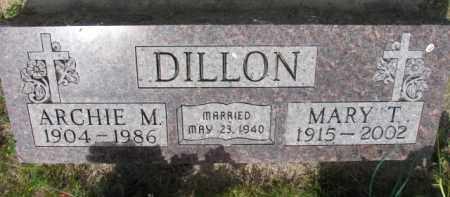 DILLON, ARCHIE M. - Stanton County, Nebraska | ARCHIE M. DILLON - Nebraska Gravestone Photos