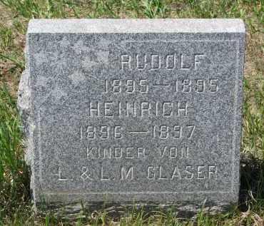 GLASER, RUDOLF - Stanton County, Nebraska   RUDOLF GLASER - Nebraska Gravestone Photos