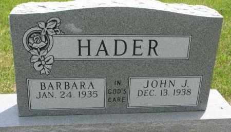 HADER, BARBARA - Stanton County, Nebraska | BARBARA HADER - Nebraska Gravestone Photos