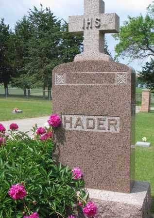 HADER, FAMILY STONE - Stanton County, Nebraska | FAMILY STONE HADER - Nebraska Gravestone Photos