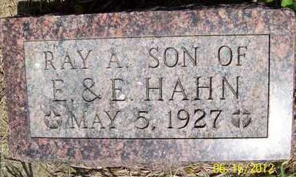 HAHN, RAY A. - Stanton County, Nebraska | RAY A. HAHN - Nebraska Gravestone Photos